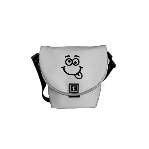 Smiley face wink courier bags