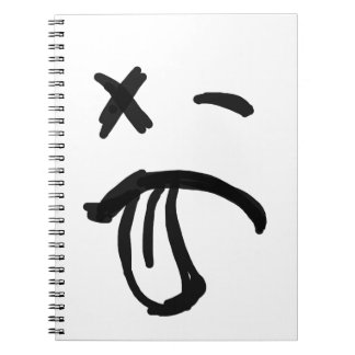 Smiley Face with Black Eye and Tongue Sticking Out Notebook