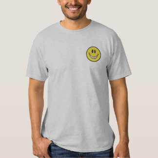 Smiley Face with Braces Embroidered T-Shirt