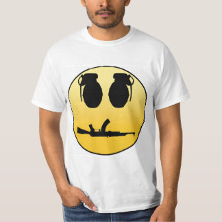 Smiley face with grenades and AK T-Shirt