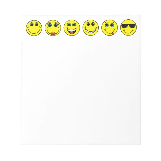 Smiley Faces Characters Notepad