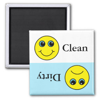 Smiley Faces Clean and Dirty Dishes Magnet