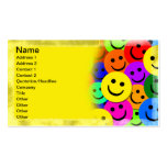 Smiley Faces Collage Business Cards