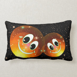 Smiley Faces In The Night Sky Lumbar Pillow