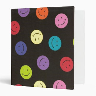 Smiley Faces - Multi-colored 3 Ring Binders