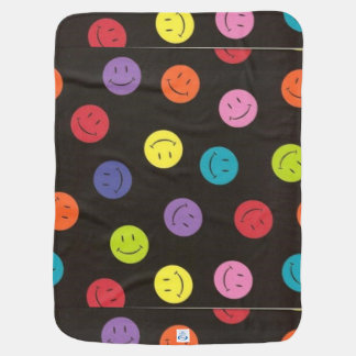 Smiley Faces - Multi-colored Baby Blanket