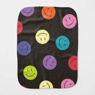 Smiley Faces - Multi-colored Burp Cloth