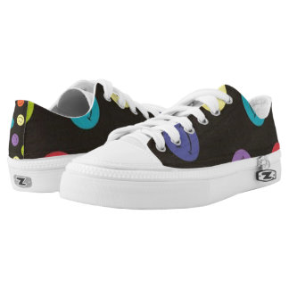 Smiley Faces - Multi-colored Low-Top Sneakers