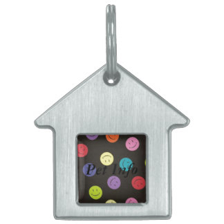 Smiley Faces - Multi-colored Pet Name Tags