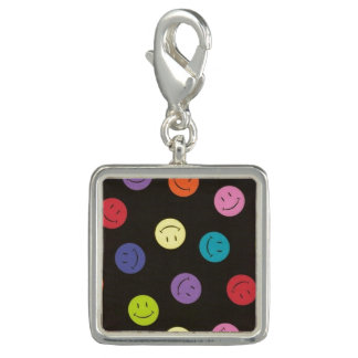 Smiley Faces - Multi-colored Photo Charm