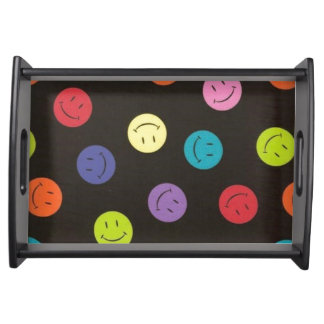Smiley Faces - Multi-colored Serving Tray