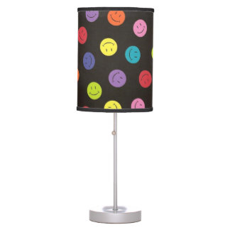 Smiley Faces - Multi-colored Table Lamp