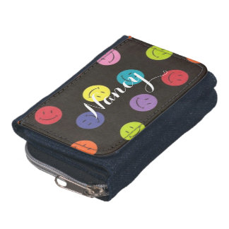 Smiley Faces - Multi-colored Wallet