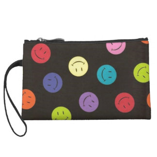 Smiley Faces - Multi-colored Wristlet