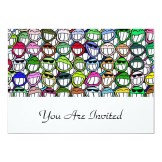 """Smiley Faces Pattern 5"""" X 7"""" Invitation Card"""