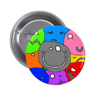 smiley faces pin