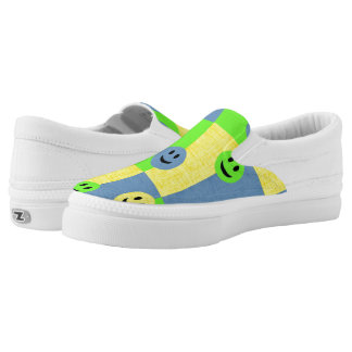 Smiley Faces Zipz Slip On Sneakers Shoes