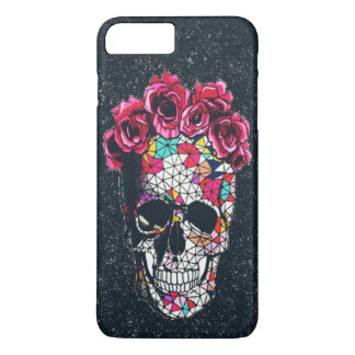 Smiley Flourish skull iPhone 7 case