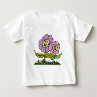 Smiley Flowers Baby T-Shirt