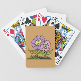 Smiley Flowers Bicycle Playing Cards