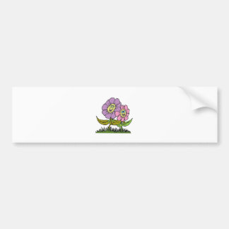 Smiley Flowers Bumper Sticker