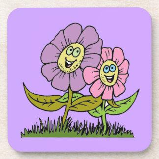 Smiley Flowers Coaster