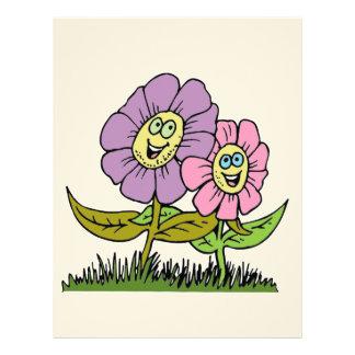 Smiley Flowers Letterhead