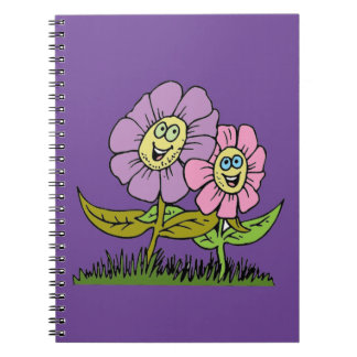 Smiley Flowers Notebook