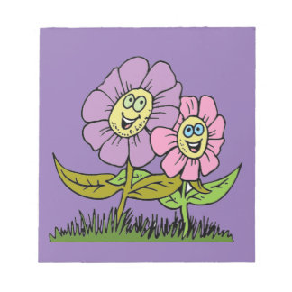 Smiley Flowers Notepad