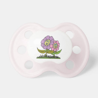 Smiley Flowers Pacifier