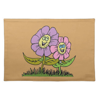 Smiley Flowers Placemat