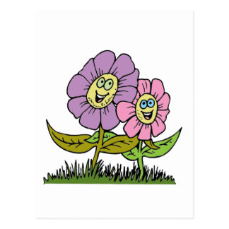 Smiley Flowers Postcard