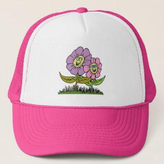 Smiley Flowers Trucker Hat