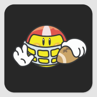 Smiley Football T-shirts and Gifts Square Sticker
