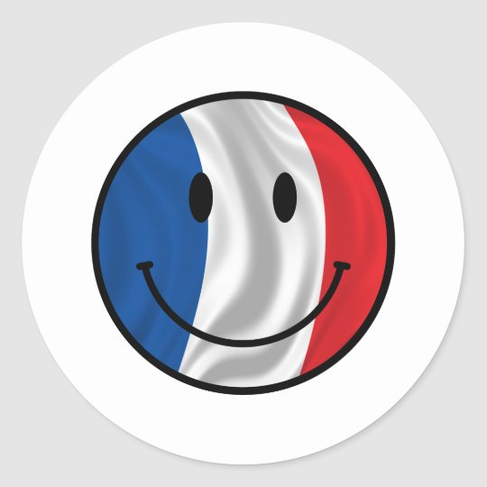 Smiley France Classic Round Sticker