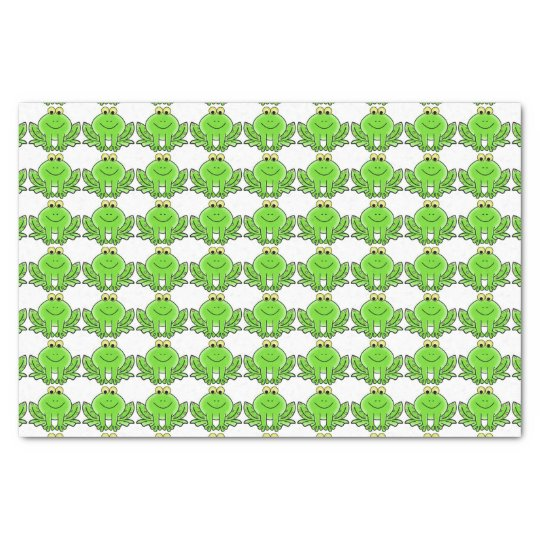 Smiley Frogs Tissue Paper