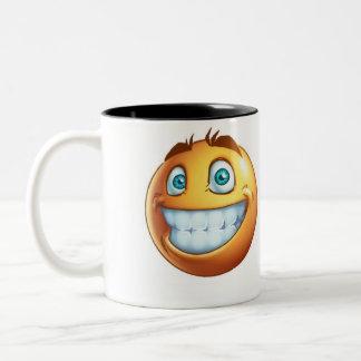 smiley funny Two-Tone coffee mug