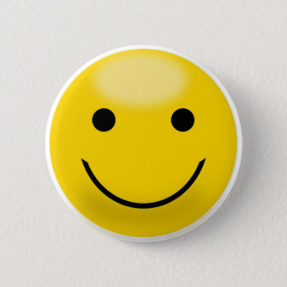 Smiley Happiness Face 2 Inch Round Button