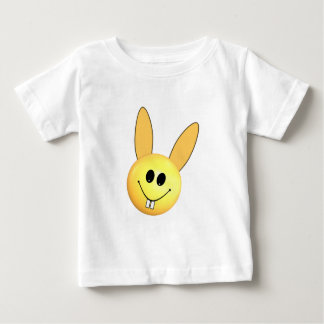 Smiley happy bunny for Easter Baby T-Shirt