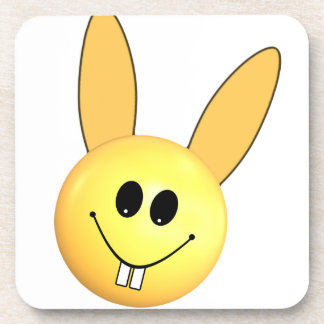 Smiley happy bunny for Easter Coaster