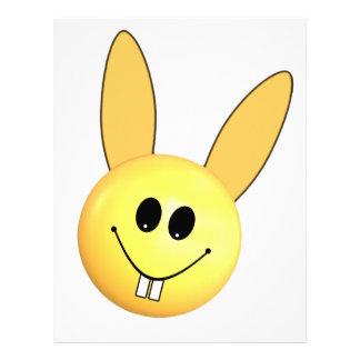 Smiley happy bunny for Easter Custom Letterhead