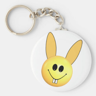 Smiley happy bunny for Easter Keychain