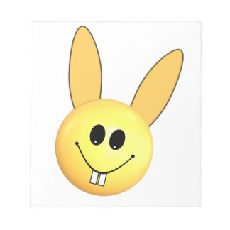 Smiley happy bunny for Easter Notepad