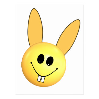 Smiley happy bunny for Easter Postcard