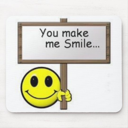 Smiley Happy Face Mouse Pad