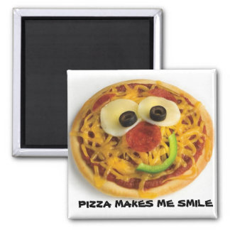 Smiley/Happy Face Pizza Magnet