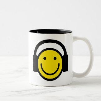 Smiley Headphones Two-Tone Mug