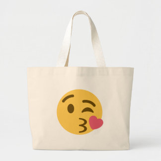 Smiley KIS Emoji Large Tote Bag