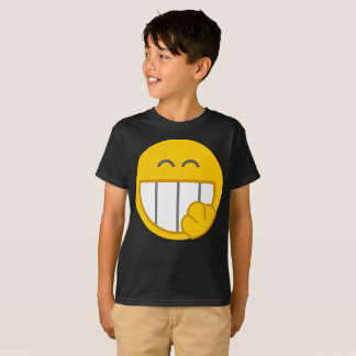Smiley Laughing Yellow Face Cover Kids T-Shirt
