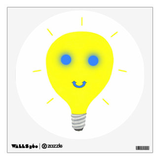 Smiley Light Bulb Wall Decals